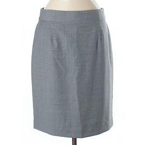 J Crew Gray Pencil Skirt